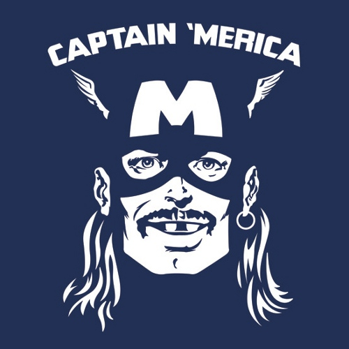 Captain Merica America Mullet Hero T-Shirt