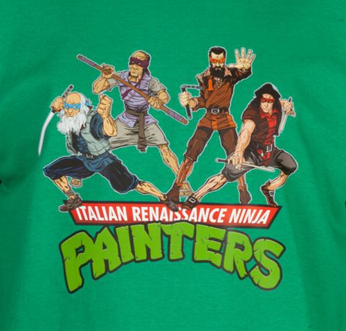 Italian Renaissance Ninja Painters TMNT T-Shirt