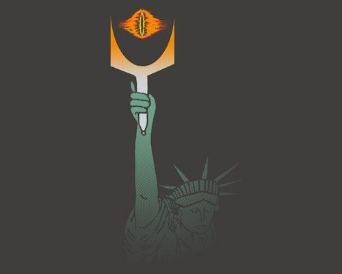 Statue of Liberty Eye of Sauron T-Shirt