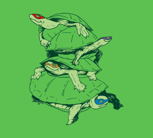 Ninja Turtle Stacking TMNT T-Shirt