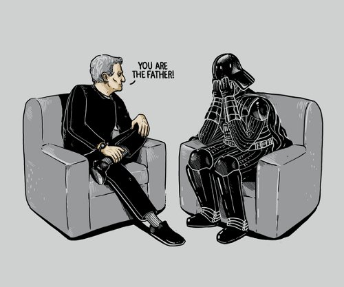 Darth Vader Paternity Test T-Shirt