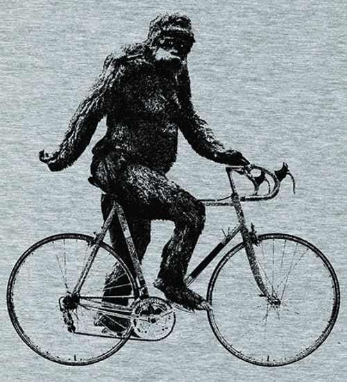Sasquatch Bigfoot Bike T-Shirt