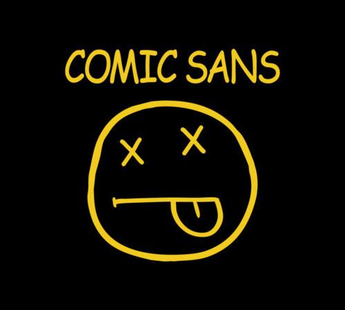 Smell Like Comic Sans Nirvana T-Shirt