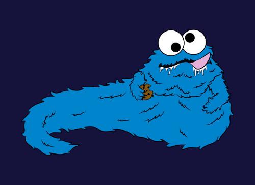 Cookie Monster Jabba the Hutt T-Shirt