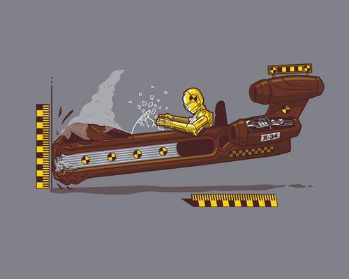 C-3PO Crash Test Dummy T-Shirt