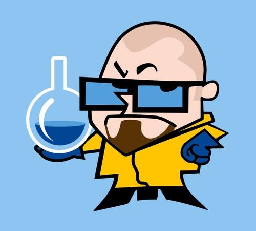 Walter's Laboratory Dexter White T-Shirt
