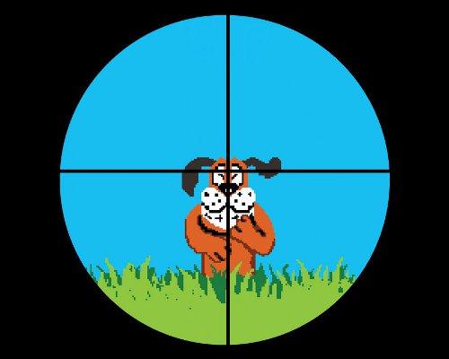 Duck Hunt Dog Rifle Crosshairs T-Shirt