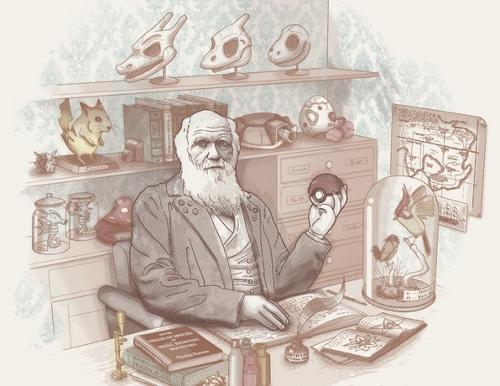 Charles Darwin Pokemon Evolution Theory T-Shirt