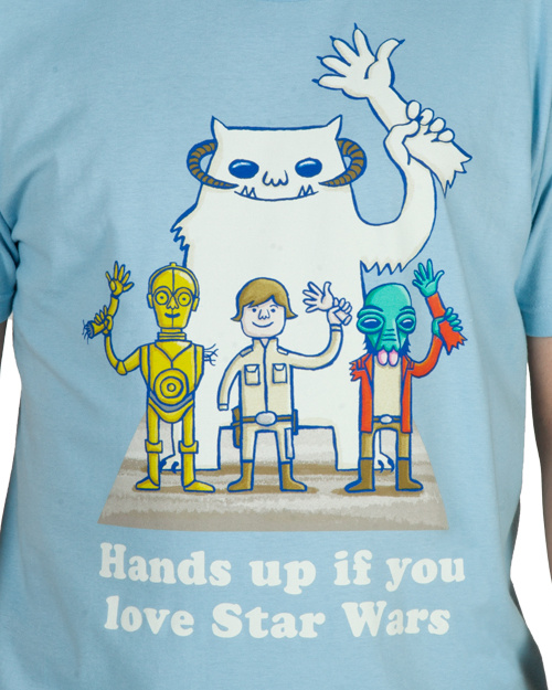 Hands Up If You Love Star Wars T-Shirt