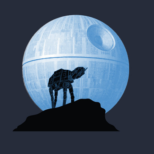 Howl AT-AT The Moon Star Wars T-Shirt