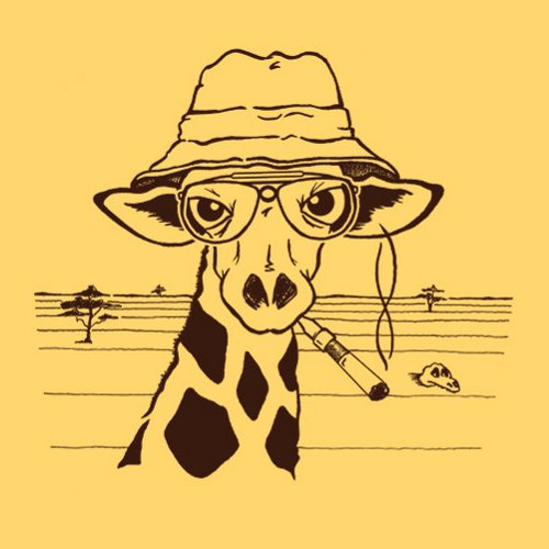 Hunter S. Thompson Giraffe T-Shirt