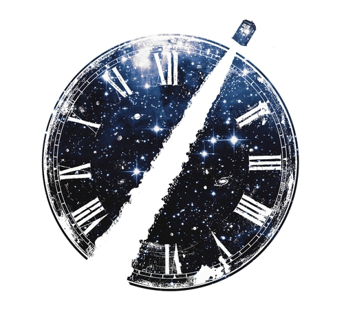 Journey Through Time Space Clock Doctor Who T-Shirt