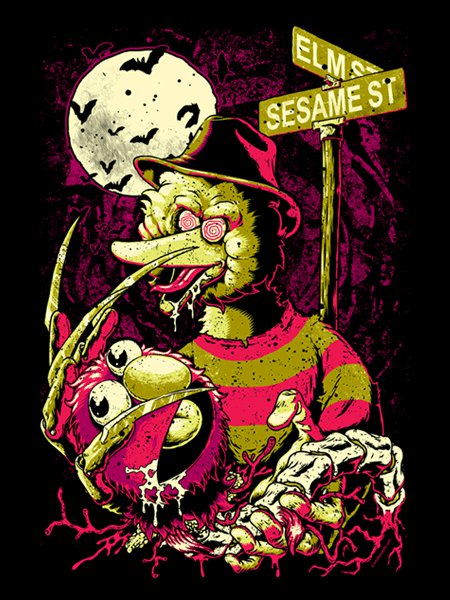 Nightmare on Sesame Elm Street T-Shirt
