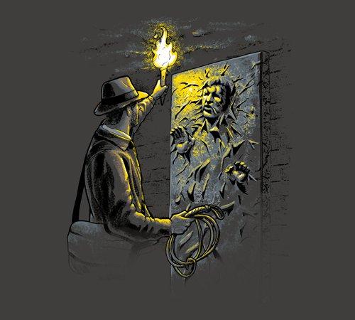 Indiana Jones Han Solo in Carbonite T-Shirt