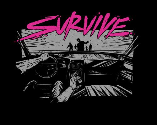 Survive Zombie Drive T-Shirt