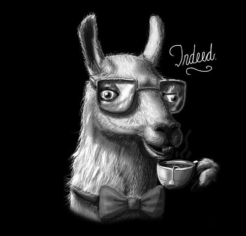 Fancy Llama Tea Indeed T-Shirt