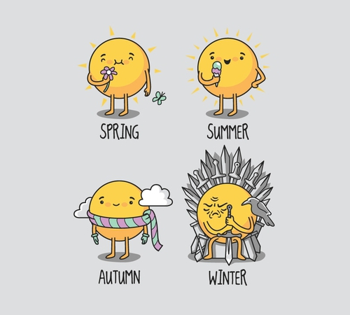 Game of Thrones Seasons Weather T-Shirt