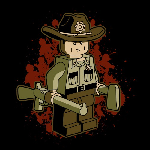 Lego Rick Grimes Walking Dead T-Shirt