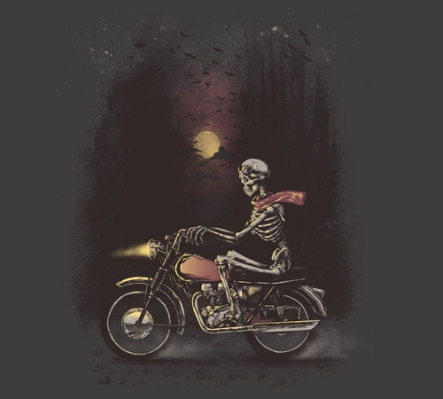 Death Skeleton Motorcycle Ride T-Shirt