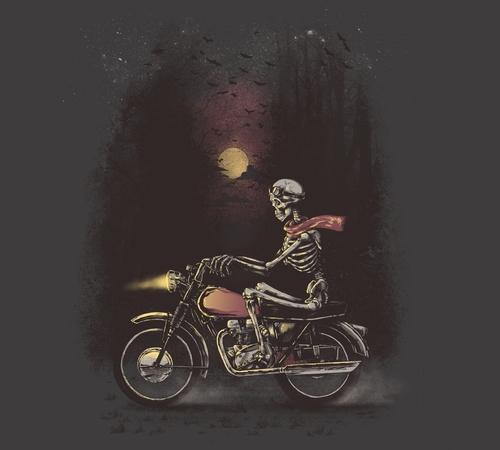 Death Skeleton Motorcycle Ride T-Shirt