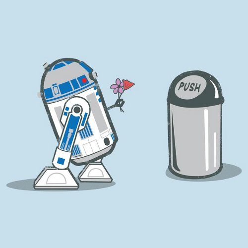 R2-D2 Trash Can Crush Star Wars T-Shirt