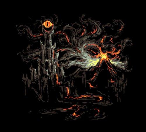 Mount Doom Starry Night Hobbit T-Shirt