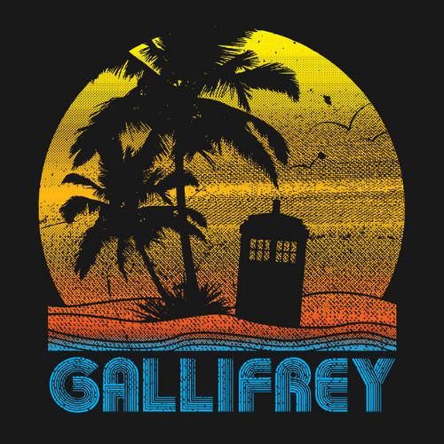 Gallifrey Vacation Retro Doctor Who T-Shirt
