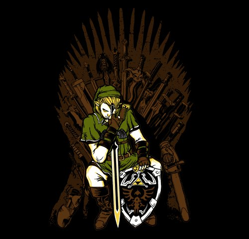 Game of Thrones Legend Zelda Link Throne T-Shirt