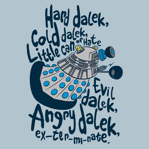 Hard Dalek Soft Kitty Doctor Who T-Shirt