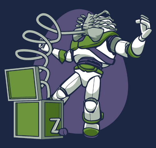 Buzz Lightyear Facehugger Alien Toy Story T-Shirt