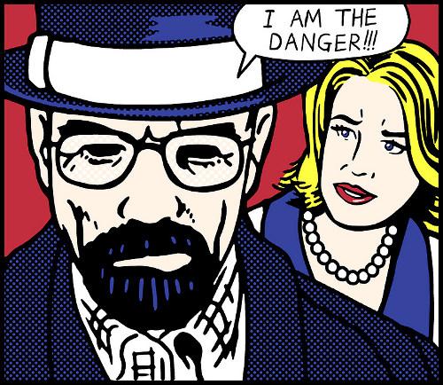 I Am The Danger Lichtenstein Breaking Bad Pop Art Comic T-Shirt