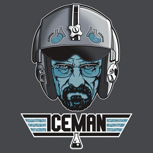 Iceman Breaking Bad Top Gun T-Shirt