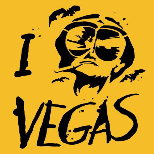 I Fear Las Vegas Loathing Heart Hunter S Thompson T-Shirt