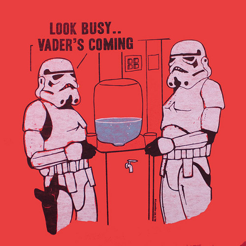 417a1559 Look Busy Stormtrooper Water Cooler Star Wars T-Shirt. ""