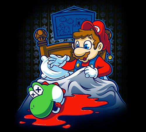 Mario Godfather Yoshi Head T-Shirt