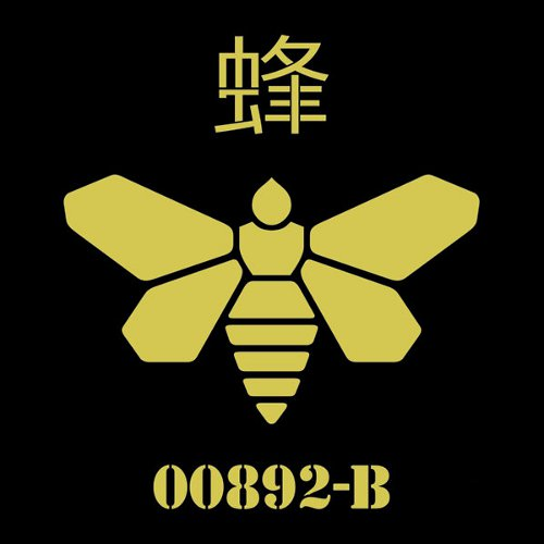 Methylamine Bee Wasp 00892-B Logo Breaking Bad T-Shirt