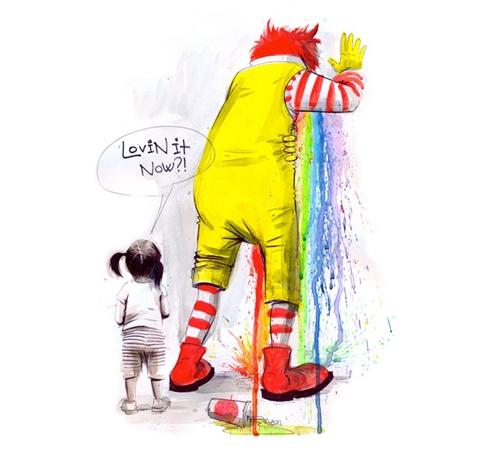 Lovin It Now Ronald McDonald Puke T-Shirt