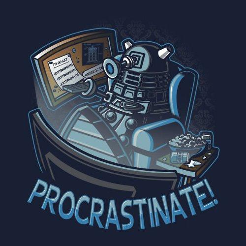 Procrastinate Dalek Doctor Who T-Shirt