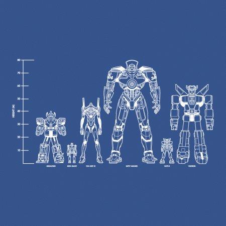 Movie TV Robots Lineup T-Shirt