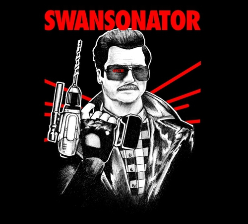 Ron Swanson Terminator Parks Recreation T-Shirt