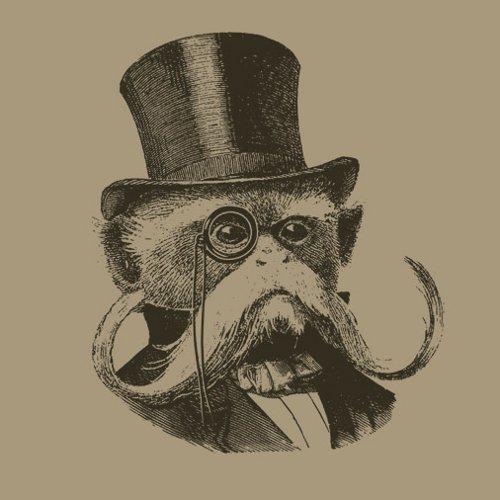 Tamarin Monkey Gentleman Moustache T-Shirt