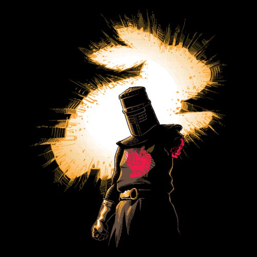 Black Knight Rises Monty Python Batman T-Shirt