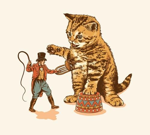 Cat Tamer Circus Training Day T-Shirt