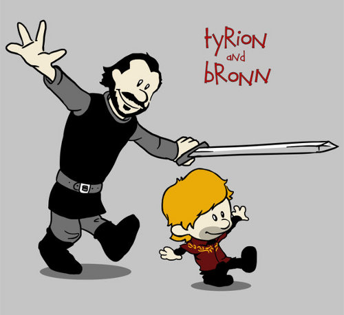 Tyrion and Bronn Calvin Hobbes Game of Thrones T-Shirt