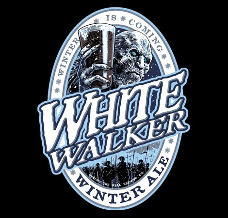White Walker Ale Game of Thrones Beer T-Shirt