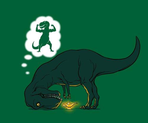 T-Rex Genie Lamp T-Shirt