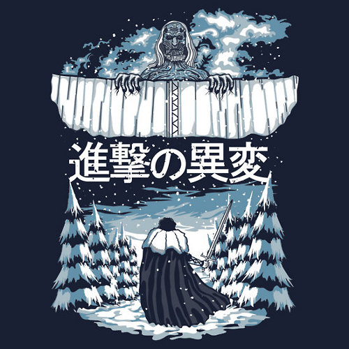 Game of Thrones Attack on Titan T-Shirt