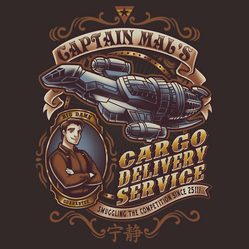 Captain Mal Cargo Delivery Firefly T-Shirt