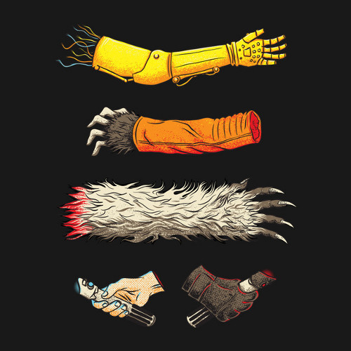 Star Wars Severed Arms Hands T-Shirt