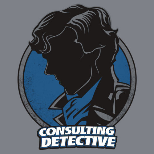 Sherlock Consulting Detective Dick Tracy T-Shirt